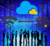 Cloud Computing Sharing Global Communication Concept Royalty Free Stock Photos