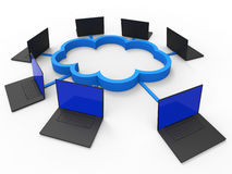 Cloud Computing Shows Information Technology And Communicate Stock Image