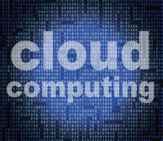 Cloud Computing Shows Information Technology And Communication. Cloud Computing Representing Network Server And Internet Stock Photo