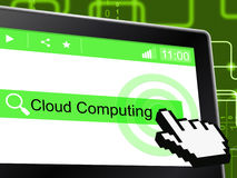 Cloud Computing Shows Network Server And Communication. Cloud Computing Meaning Information Technology And Computer Royalty Free Stock Photo