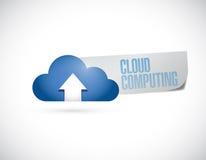 Cloud computing sign message illustration Stock Photos