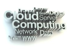 Cloud computing silver letters Stock Images