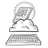 Cloud computing sketch Stock Photos