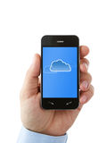 Cloud computing on smart phone Royalty Free Stock Photography