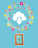 Cloud computing smart phone concept Stock Image