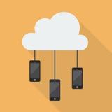 Cloud Computing Smartphone Network Stock Image