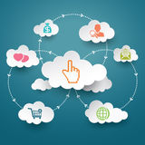 Cloud computing social abstract background concept Stock Image