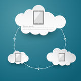 Cloud computing social abstract background concept Royalty Free Stock Photo