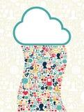 Cloud computing social media network Royalty Free Stock Photography