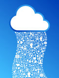 Cloud computing social media network background Stock Photo