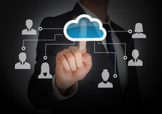 Cloud computing social network Royalty Free Stock Photo