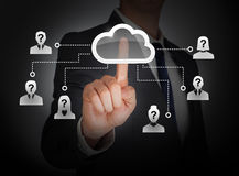 Cloud computing social network Stock Photo