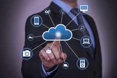Cloud Computing And Social Network Concept Stock Photo