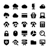 Cloud Computing Solid Icons 1 Royalty Free Stock Images