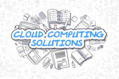 Cloud Computing Solutions - Business Concept. Royalty Free Stock Image