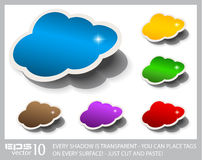 Cloud Computing Speech Bubble Stock Image
