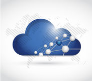 cloud computing sphere network world map Stock Image