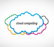 Cloud computing stickers Stock Photo
