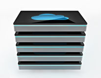 Cloud computing storage Stock Image