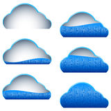 Cloud Computing Storage Blue Icon Binary Filled Part Portion Stock Photos