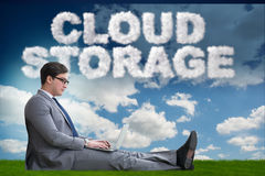 The cloud computing storage in it concept Royalty Free Stock Images