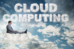 The cloud computing storage in it concept Royalty Free Stock Photos