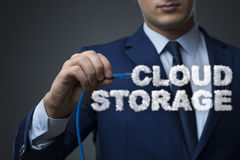 The cloud computing storage in it concept royalty free stock photography