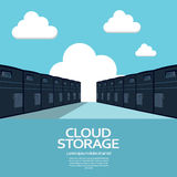Cloud computing storage concept. Eps10 vector Royalty Free Stock Photography