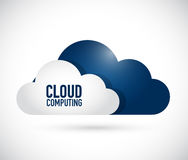 Cloud computing storage concept illustration. Design graphic over white Royalty Free Stock Image