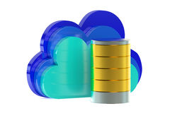 Cloud computing storage concept Stock Images