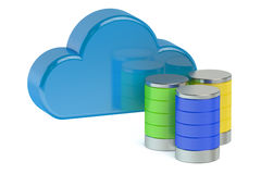 Cloud computing storage concept Stock Image