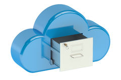 Cloud computing storage concept. On white background Royalty Free Stock Image