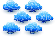 Cloud Computing Storage Data Information Icon Set Stock Images