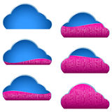 Cloud Computing Storage Icon Binary Data Filled Part Portion Stock Photo