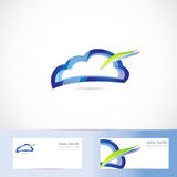 Cloud computing storage logo Stock Photography