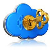 Cloud computing and storage security concept Royalty Free Stock Image
