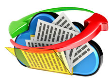 Cloud computing and storage security concept Stock Image
