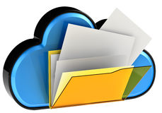 Cloud computing and storage security concept Stock Photos