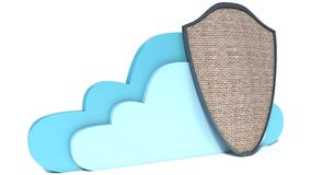 Cloud computing and storage security concept Royalty Free Stock Photo