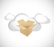 Cloud computing storage servers concept Stock Photo