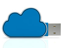 Cloud Computing Storage Shows Network Or Internet Networking Stock Photography