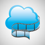 Cloud computing strip film Royalty Free Stock Images