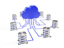 Cloud computing structure Royalty Free Stock Photos