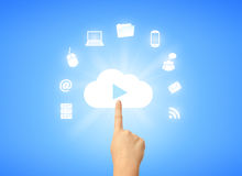 Cloud computing symbol Stock Photos