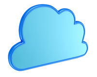 Cloud computing symbol - 3d render Royalty Free Stock Image