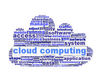 Cloud computing symbol conceptual design isolated. On white background. Modern computer application symbol Royalty Free Stock Image