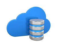 Cloud Computing Symbol with Database Icon Royalty Free Stock Photo