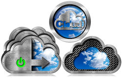 Cloud Computing Symbol with Sky Royalty Free Stock Images