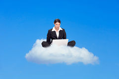 Cloud computing symbol Royalty Free Stock Image