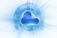 Cloud computing system abstract technology background Royalty Free Stock Photos